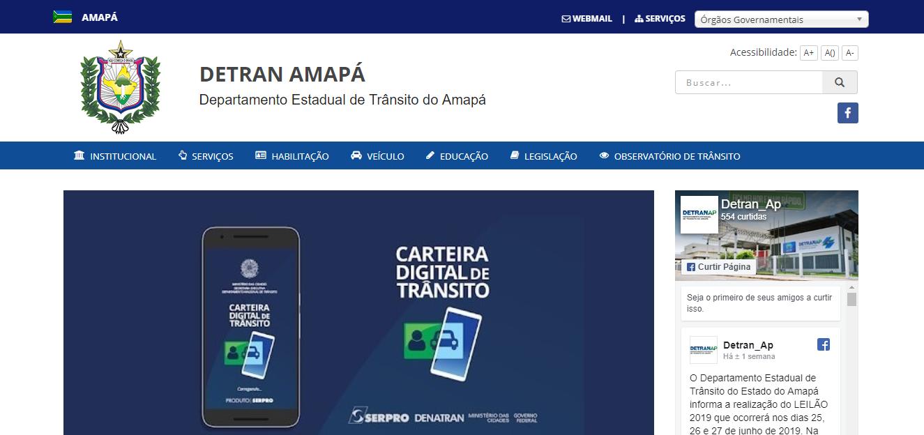 Consulta online licenciamento 2020 AP